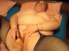 Mature SSBBW playing with her cunt and boobs
