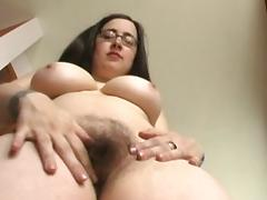 Crazy pornstar in incredible tattoos, hairy sex clip