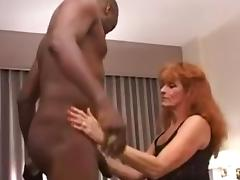 Redhead milf fuck black bull and hubby
