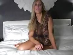 Blonde JOI with countdown