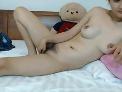 Hairy Asian babe