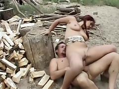 Best pornstar in crazy redhead, blowjob xxx video