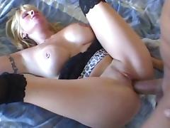Exotic pornstar Lexxy Foxx in best facial, blonde porn scene