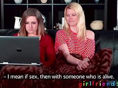 Girlfriends beautiful all-natural lesbians enjoying pussy