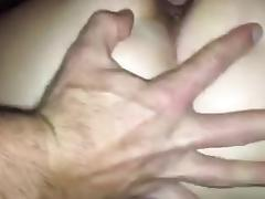 Cumming on girlfriend's asshole