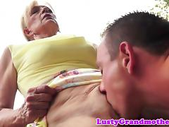Old Woman, Amateur, Banging, Doggystyle, European, Granny
