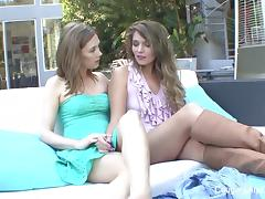 Young MILF seduces her tattooed stepdaughter