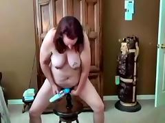 Mature slut ann fucking herself again