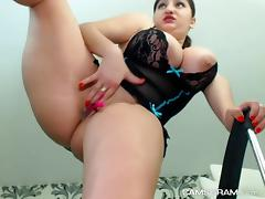 Dirty Huge Natural Tits Camgirl Ever Masturbates And Squirts On Webcam
