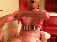 olibrius71 clamps nipples, slap face