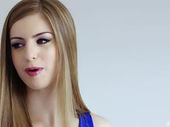 Stella Cox is a babe in a blue dress ready to be plowed by a BBC