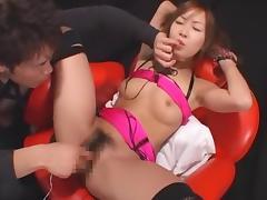 Exotic Japanese slut Yuzuha Hinata in Hottest Stockings, Cunnilingus JAV clip