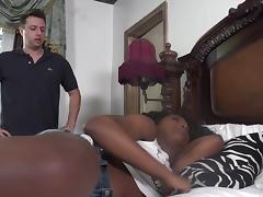 Vivacious ebony bomb Daya Knight having her cooch boned by Mark Zane
