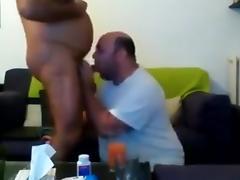 Chubby sucking daddy dick