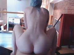 Gorgeous Pale Babe Riding + Blowjob + CIM