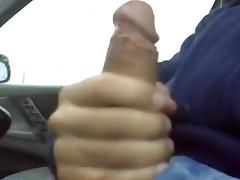 Handjob in my car