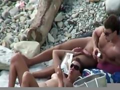Beach reading and blowjob
