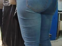 Two big asses milf in shop