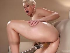 Blonde, Blonde, Fucking, Machine, Mature, MILF
