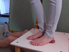 Sexy Foot Crushing Manhood