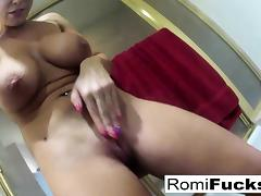 Romi Rain washes off her dirty sex after a scene