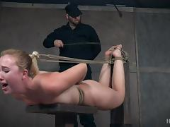samantha is bound with rope