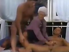 Crazy Homemade record with Threesome, Grannies scenes