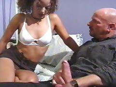 Sucking school girl get her first Double Penetration