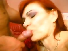 Two Horny Grannies Take On A Stud porn video