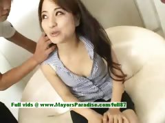 Miina superb Chinese girl gets nipples licked