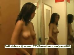 Celina lovely redhead babe in the fitting room