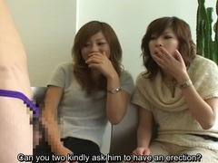 Subtitled Japanese CFNM phimosis masturbation party