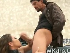 Cutie gets banged well porn video