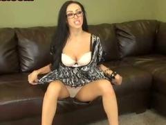 Busty Brunette Babe Gets Naked