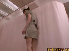 Japanese Nurse in a Bukkake Cumshot