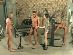 Shocking BDSM session with naked male