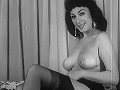 Beautiful Busty Brunette Bares it All 1960