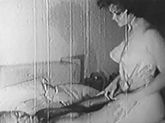 Sexy Couple Teasing and Kissing 1950
