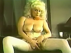 Ambitious Blonde Having Fun in Her House 1970