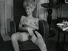 Delightful Woman Poses and Masturbates 1950 porn video