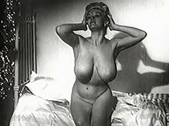 Chick with Huge Natural Juggs 1950 porn video