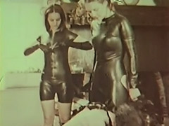 Latex Mistresses Punish Cumming Slave 1970 porn video