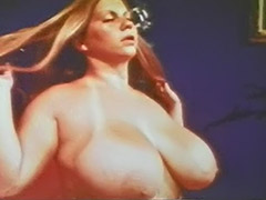 Big Busty Babe Poses and Teases Herself 1970 porn video