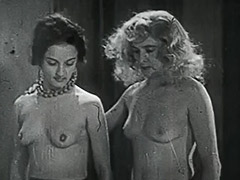 3 Horny Girls in a Guy's Dream 1950 porn video