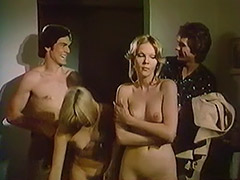 Swingers Convince a Girl to Enjoy Group Sex 1970 porn video