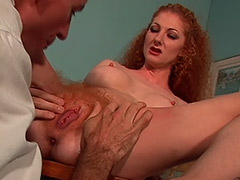 Hairy Secretary is Fucked at the Office by Her Boss who Loves Furry Cunts