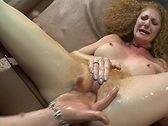 Supernatural Hairy Pussy Squirts for a Good Licking and Awesome Fucking