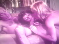 Threesome with Hot Blonde and Brunette 1970