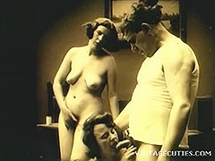 Vintage 1920s Real Group Sex Old and Young 1920