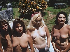 Nudist Colony Role playing Aliens and Astronauts 1960 porn video